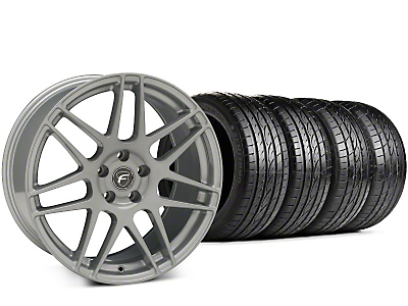 Forgestar F14 Silver Wheel & Sumitomo HTR Z III Tire Kit - 19x9.5 (15-18 All)
