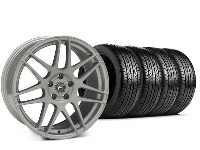 Forgestar F14 Silver Wheel & Pirelli P-Zero Nero Tire Kit - 19x9.5 (15-17 All)