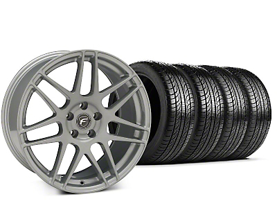 Forgestar F14 Silver Wheel & Pirelli P-Zero Nero Tire Kit - 19x9.5 (15-19 All)