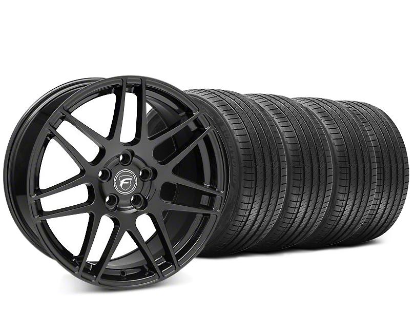 Forgestar F14 Piano Black Wheel & Sumitomo HTR Z III Tire Kit - 20x9.5 (15-19 GT, EcoBoost, V6)