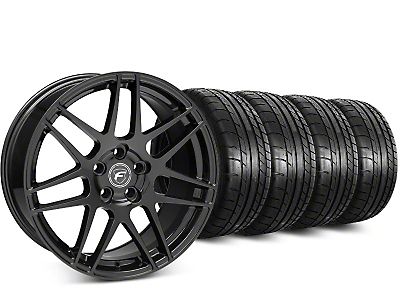 Forgestar F14 Piano Black Wheel & Mickey Thompson Street Comp Tire Kit - 20x9.5 (15-18 GT, EcoBoost, V6)