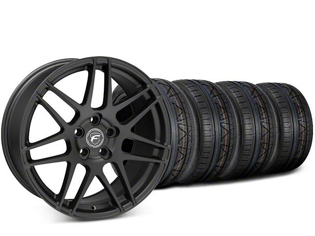 Forgestar F14 Matte Black Wheel & NITTO INVO Tire Kit - 20x9.5 (15-19 GT, EcoBoost, V6)