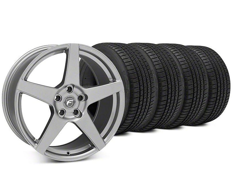 Forgestar CF5 Gunmetal Wheel & Michelin Pilot Sport A/S 3+ Tire Kit - 19x9.5 (15-18 All)