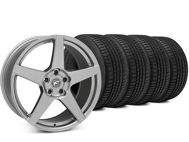 Forgestar CF5 Gunmetal Wheel & Michelin Pilot Sport A/S 3+ Tire Kit - 19x9.5 (15-17 All)
