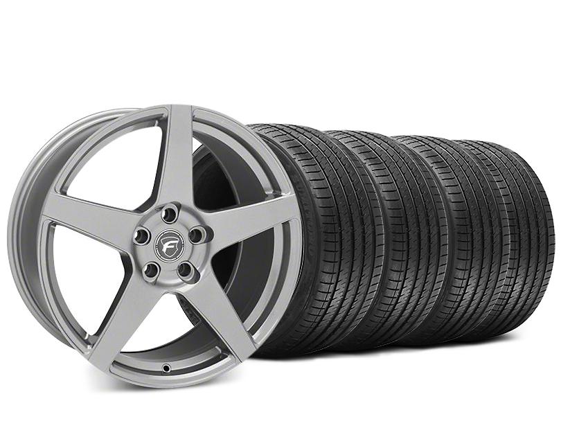 Forgestar CF5 Gunmetal Wheel & Sumitomo HTR Z III Tire Kit - 19x9.5 (15-18 GT, EcoBoost, V6)