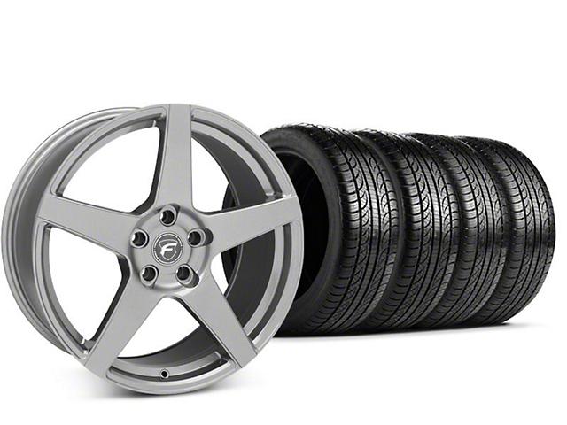mustang forgestar cf5 gunmetal wheel pirelli p zero nero tire kit 19x9 5 15 19 gt ecoboost. Black Bedroom Furniture Sets. Home Design Ideas