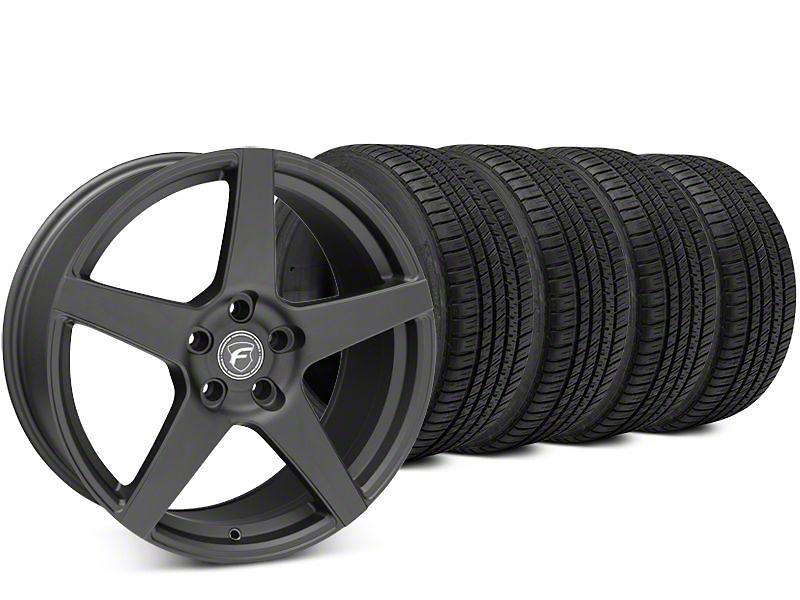 Forgestar CF5 Matte Black Wheel & Michelin Pilot Sport A/S 3+ Tire Kit - 19x9.5 (15-18 All)