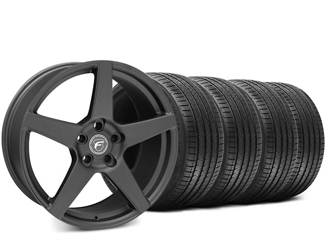 Forgestar CF5 Matte Black Wheel & Sumitomo HTR Z III Tire Kit - 19x9.5 (15-17 All)
