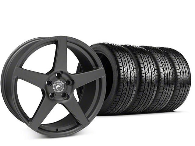 Forgestar CF5 Matte Black Wheel & Pirelli P-Zero Nero Tire Kit - 19x9.5 (15-19 GT, EcoBoost, V6)