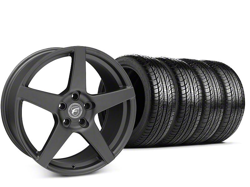 Forgestar CF5 Matte Black Wheel & Pirelli P-Zero Nero Tire Kit - 19x9.5 (15-18 GT, EcoBoost, V6)