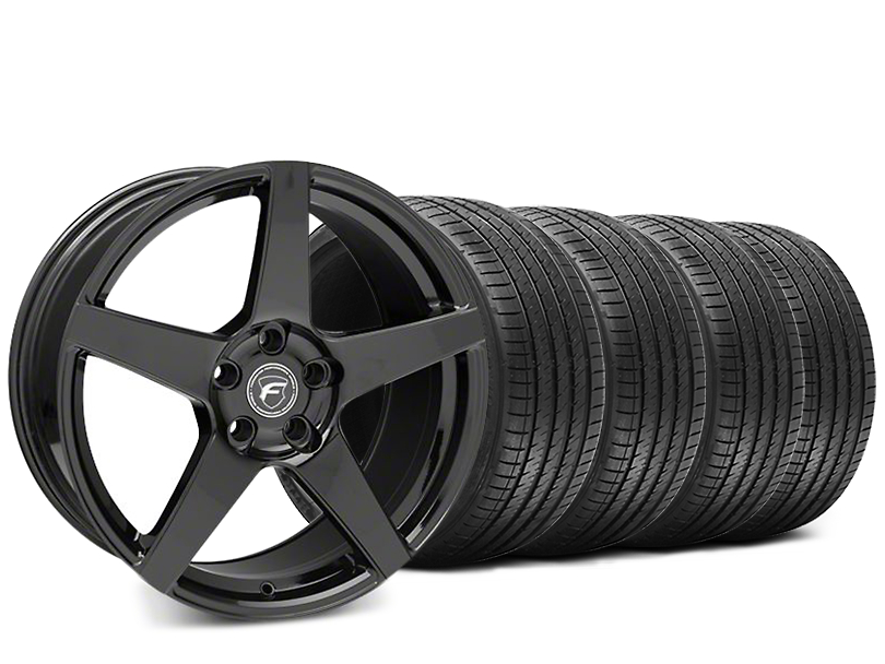 Forgestar CF5 Piano Black Wheel & Sumitomo HTR Z III Tire Kit - 19x9.5 (15-17 All)