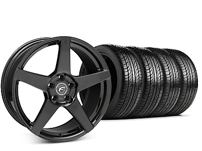 Forgestar CF5 Piano Black Wheel & Pirelli P-Zero Nero Tire Kit - 19x9.5 (15-18 GT, EcoBoost, V6)