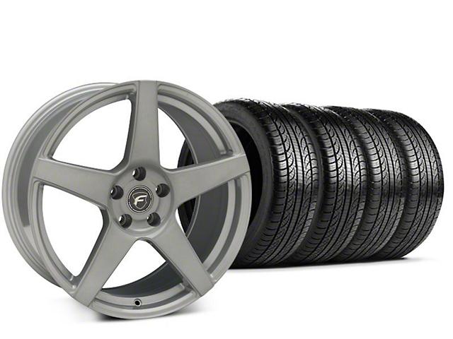 Forgestar CF5 Silver Wheel & Pirelli P-Zero Nero Tire Kit - 19x9.5 (15-17 All)