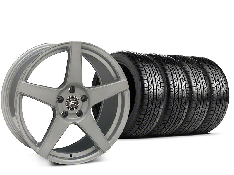Forgestar CF5 Silver Wheel & Pirelli P-Zero Nero Tire Kit - 19x9.5 (15-19 GT, EcoBoost, V6)