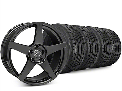 Forgestar CF5 Piano Black Wheel & NITTO NT555 G2 Tire Kit - 20x9.5 (15-17 All)