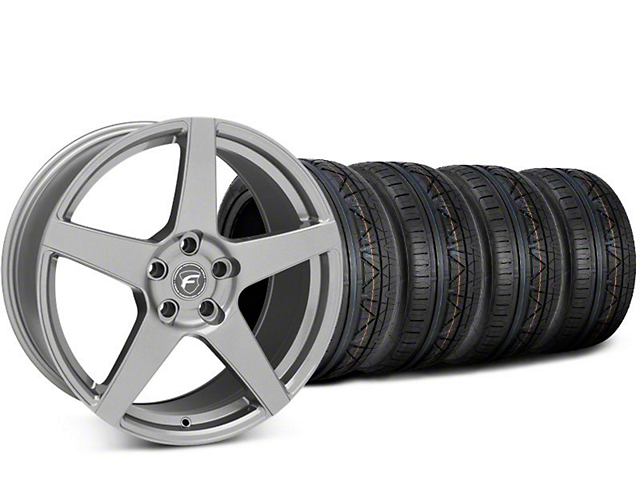Forgestar CF5 Gunmetal Wheel & NITTO INVO Tire Kit - 20x9.5 (15-19 GT, EcoBoost, V6)