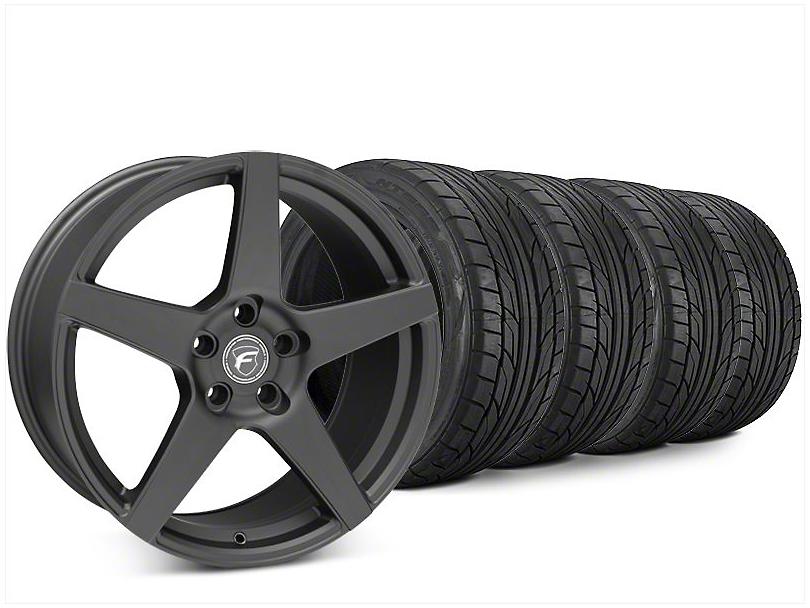 Forgestar CF5 Matte Black Wheel & NITTO NT555 G2 Tire Kit - 20x9.5 (15-19 All)
