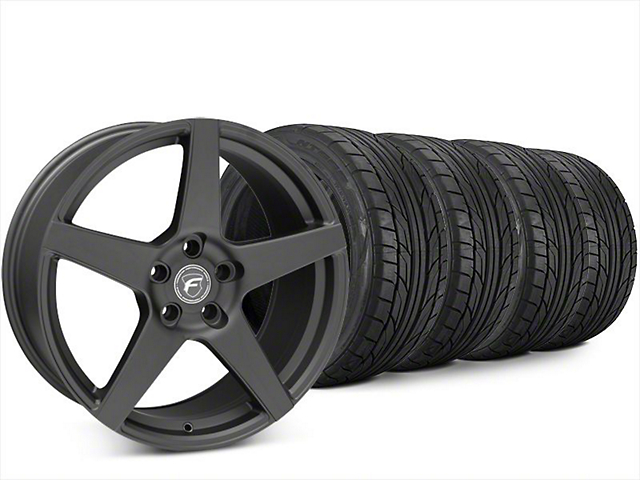Forgestar CF5 Matte Black Wheel & NITTO NT555 G2 Tire Kit - 20x9.5 (15-18 All)