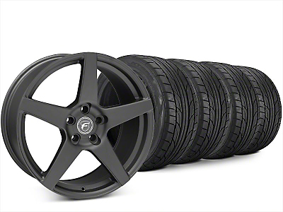 Forgestar CF5 Matte Black Wheel & NITTO NT555 G2 Tire Kit - 20x9.5 (15-17 All)