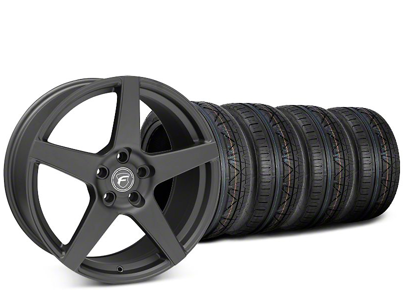 Forgestar CF5 Matte Black Wheel & NITTO INVO Tire Kit - 20x9.5 (15-17 All)