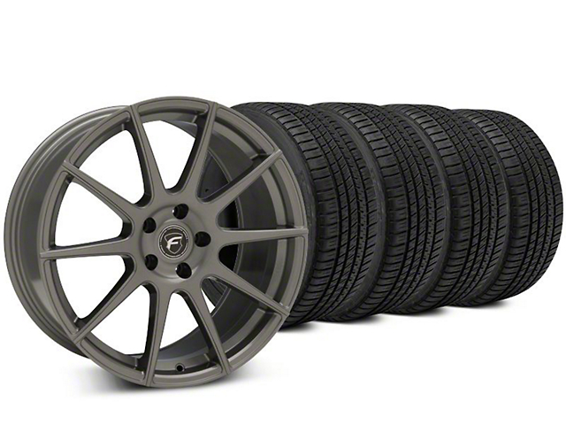Forgestar CF10 Gunmetal Wheel & Michelin Pilot Sport A/S 3+ Tire Kit - 19x9.5 (15-18 All)