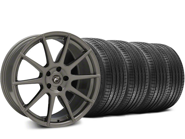 Forgestar CF10 Gunmetal Wheel & Sumitomo HTR Z III Tire Kit - 19x9.5 (15-18 GT, EcoBoost, V6)