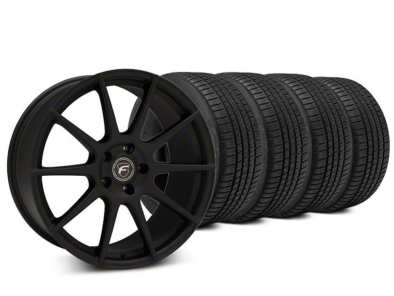 Forgestar CF10 Textured Matte Black Wheel & Michelin Pilot Sport A/S 3+ Tire Kit - 19x9.5 (15-17 All)