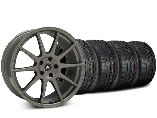 Forgestar CF10 Gunmetal Wheel & NITTO INVO Tire Kit - 20x9.5 (15-19 GT, EcoBoost, V6)