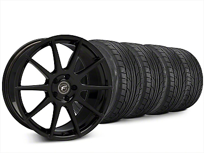 Forgestar CF10 Piano Black Wheel & NITTO NT555 G2 Tire Kit - 20x9.5 (15-19 All)