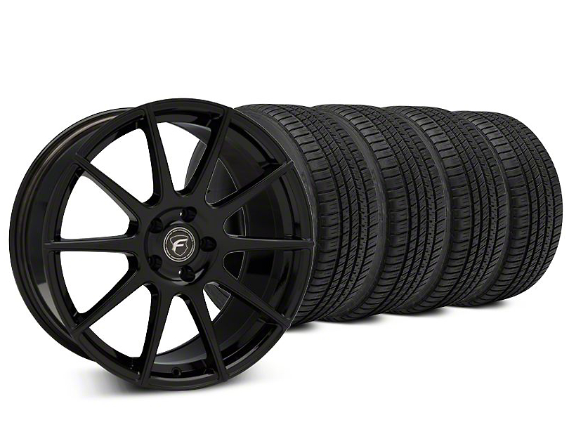 Forgestar CF10 Piano Black Wheel & Michelin Pilot Sport A/S 3+ Tire Kit - 20x9.5 (15-19 All)