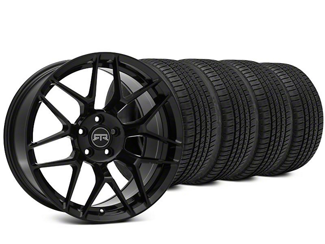 RTR Tech 7 Black Wheel & Michelin Pilot Sport A/S 3+ Tire Kit - 19x9.5 (15-19 All)