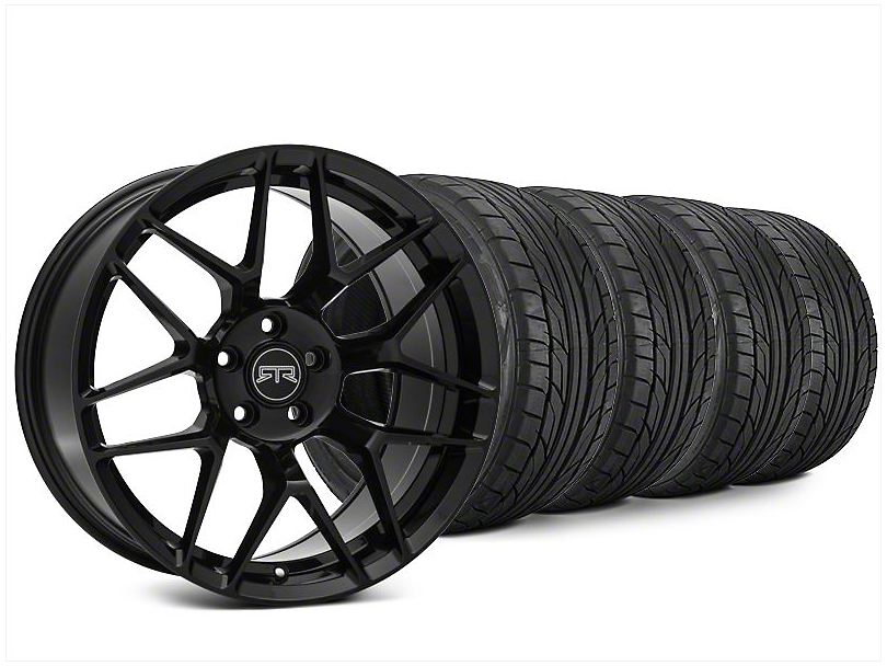 RTR Tech 7 Black Wheel & NITTO NT555 G2 Tire Kit - 20x9.5 (15-18 All)