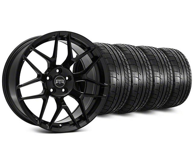 RTR Tech 7 Black Wheel & Mickey Thompson Street Comp Tire Kit - 20x9.5 (15-18 GT, EcoBoost, V6)