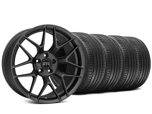 RTR Tech 7 Charcoal Wheel and Sumitomo Maximum Performance HTR Z5 Tire Kit; 20x9.5 (15-20 GT, EcoBoost, V6)