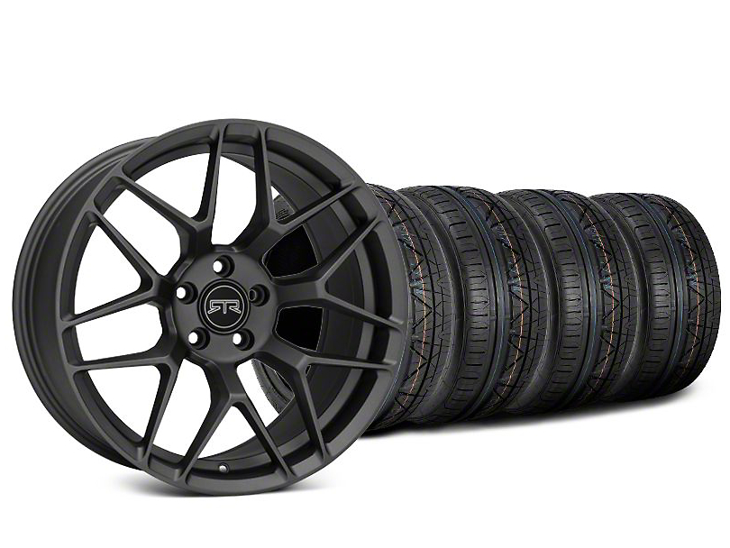 RTR Tech 7 Charcoal Wheel & NITTO INVO Tire Kit - 20x9.5 (15-18 GT, EcoBoost, V6)