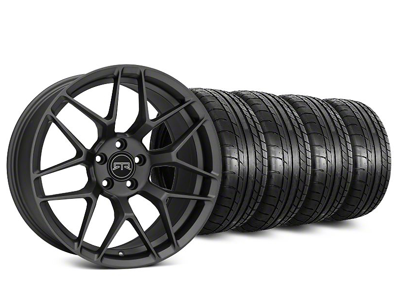 RTR Tech 7 Charcoal Wheel & Mickey Thompson Street Comp Tire Kit - 20x9.5 (15-19 GT, EcoBoost, V6)