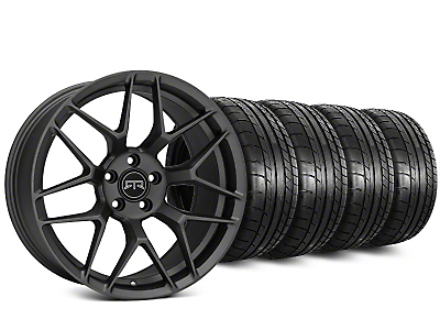 RTR Tech 7 Charcoal Wheel & Mickey Thompson Street Comp Tire Kit - 20x9.5 (15-18 GT, EcoBoost, V6)