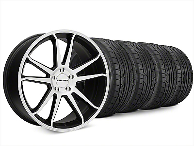 Concavo CW-S5 Matte Black Machined Wheel & NITTO NT555 G2 Tire Kit - 20x9 (15-18 All)