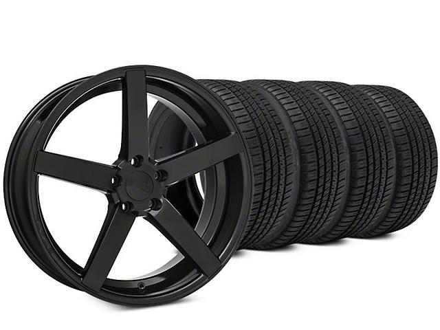 Rovos Durban Brushed Black Wheel & Michelin Pilot Sport A/S 3+ Tire Kit - 20x8.5 (15-17 All)