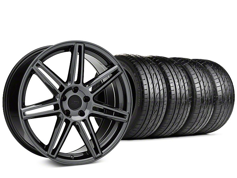 Niche Lucerne Black Chrome Wheel & Sumitomo HTR Z III Tire Kit - 20x9 (15-18 GT, EcoBoost, V6)