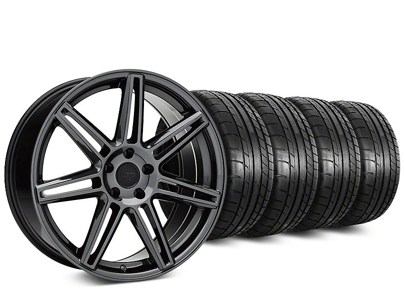 Niche Lucerne Black Chrome Wheel & Mickey Thompson Street Comp Tire Kit - 20x9 (15-17 All)