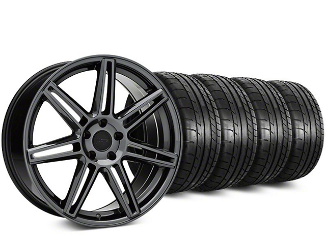Niche Lucerne Black Chrome Wheel & Mickey Thompson Street Comp Tire Kit - 20x9 (15-18 GT, EcoBoost, V6)