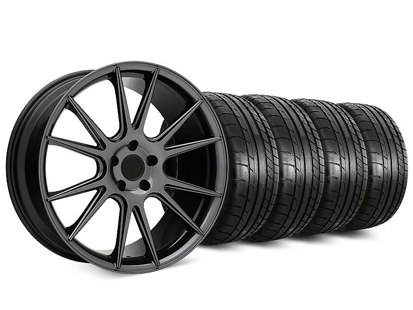 Niche Vicenza Black Chrome Wheel & Mickey Thompson Street Comp Tire Kit - 20x9 (15-17 All)