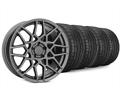 2013 GT500 Style Charcoal Wheel & NITTO NT555 G2 Tire Kit - 20x8.5 (15-19 GT, EcoBoost, V6)