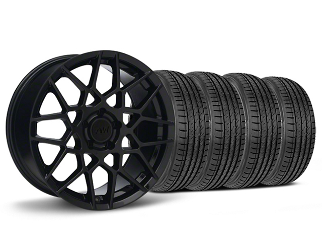 2013 GT500 Style Gloss Black Wheel & Sumitomo HTR Z III Tire Kit - 19x8.5 (15-17 V6, EcoBoost)