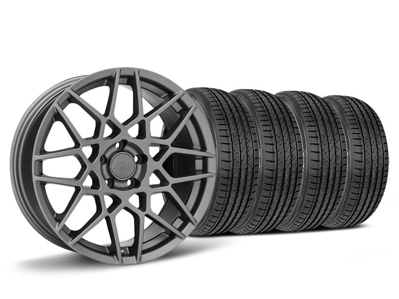 2013 GT500 Style Charcoal Wheel & Sumitomo HTR Z III Tire Kit - 19x8.5 (15-17 V6, EcoBoost)