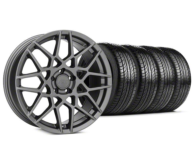 2013 GT500 Style Charcoal Wheel & Pirelli P-Zero Nero Tire Kit - 19x8.5 (15-18 GT, EcoBoost, V6)
