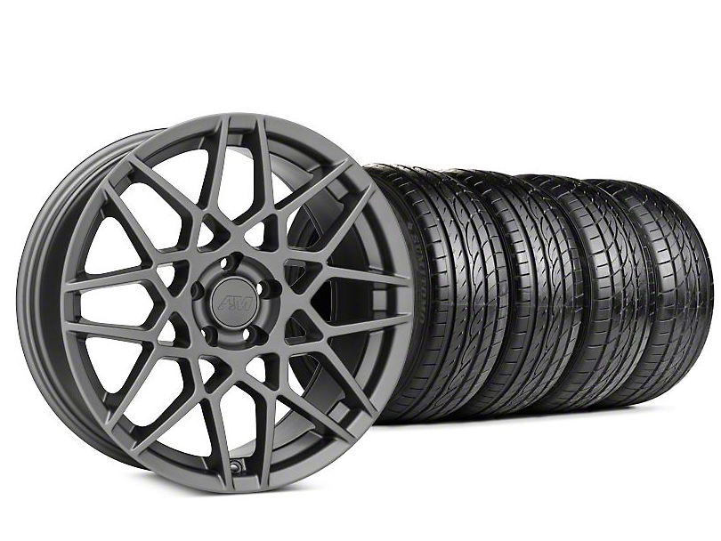2013 GT500 Style Charcoal Wheel & Sumitomo HTR Z III Tire Kit - 19x9.5 (15-18 GT, EcoBoost, V6)