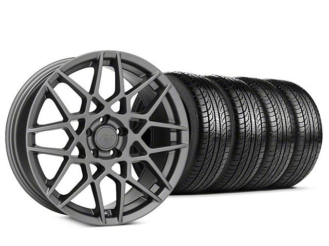 mustang 2013 gt500 style charcoal wheel pirelli p zero nero tire kit 19x9 5 15 19 gt. Black Bedroom Furniture Sets. Home Design Ideas