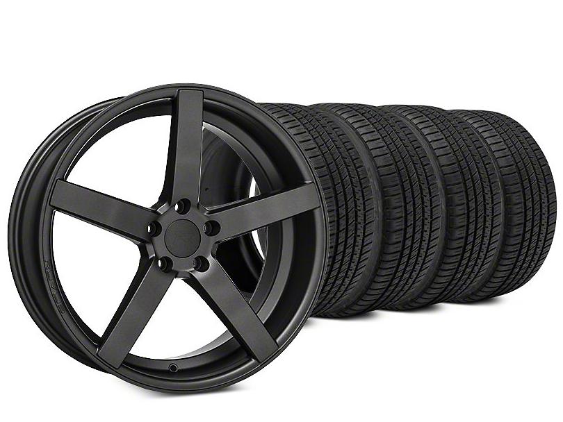Rovos Durban Satin Gunmetal & Michelin Pilot Sport A/S 3+ Tire Kit - 20x8.5 (15-18 All)